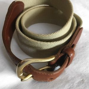 Coach Accessories - COACH LEATHER CLOTH BELT SZ 34